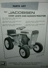 Jacobsen Chief  Lawn Garden Tractor Parts Manual 800 1000 1200 Gear drive +Super