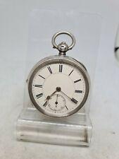 Antique solid silver gents Robert Reid Bristol pocket watch 1889 W/O ref1742