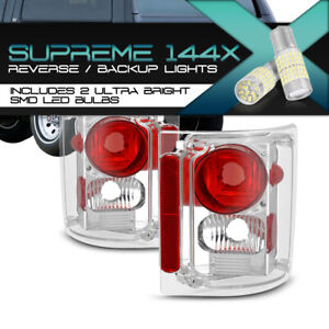 !360 DEGREE SMD BACKUP! Tail Light Brake Pair For 1973-1986 Chevy GMC C/K Pickup