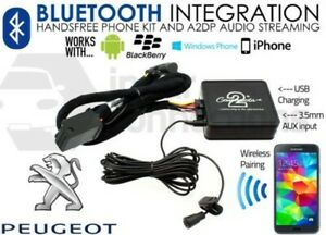 Peugeot 307 2005 on Bluetooth music streaming handsfree calls AUX USB MP3 iPhone