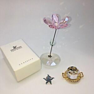 Swarovski ornaments pink rocking flower Cake on tray Starfish pin
