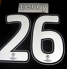 Chelsea Terry 26 2007/08 Uefa Champions League Final Football Shirt Name Set