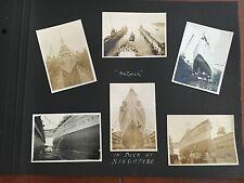 H.M.S.Berwick in Dock at Singapore 6 Photos  1932 - 1934