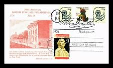 US COVER EXECUTIVE BRANCH BICENTENNIAL MULTI FRANKED FDC PATRIOT CACHET