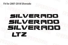 4pcs Matt Black Silverado LTZ Emblem Letters Badge for Chevrolet Silverado 1500