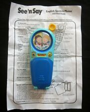 See N Say English Spanish Bilingual Phone Fisher Price 2001 TESTED and WORKING