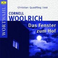 CHRISTIAN QUADFLIEG - DAS FENSTER ZUM HOF  2 CD  8 TRACKS HÖRBUCH  NEW