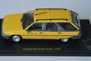 Miniatures 1:43 - Musée de la Poste. Citroën BX break 16 RS - 1986, sur socle.