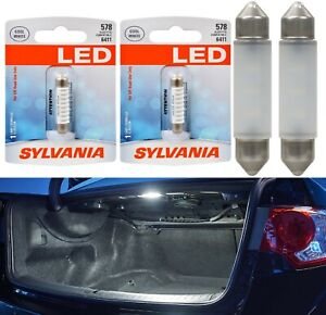 Sylvania Premium LED Light 578 White 6000K Two Bulbs Trunk Cargo Replace Lamp OE