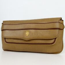 Authentic Cartier Must Line Clutch bag leather[Used]