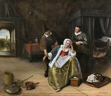 The Lovesick Maiden by Jan Steen ca.1660 Dutch Old Masters 13x15 Art Print
