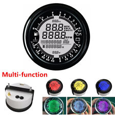 6in1 Multi-Function 85mm GPS Speedometer Tachometer Gauge Water Temp/Volt Meter