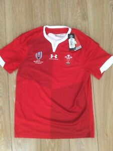 Wales under armour rugby world cup shirt brand new size medium