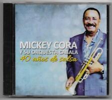 Mickey Cora y Su Orquesta Cabala - 40 Años De Salsa - 2019 CD - Nuevo Y Sellado