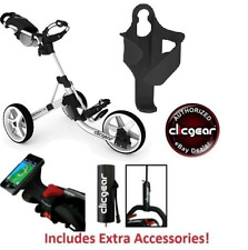 Best Value New Clicgear 3.5 Golf Push Cart + EXTRAS! Arctic White 3 Wheel Pull