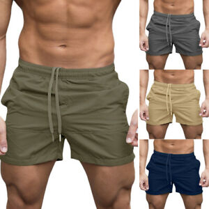 Men's Sports Training Bodybuilding Shorts Gym Workout Fitness Summer Short Pants