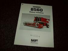 MASSEY FERGUSON 8560 COMBINE BROCHURE LITERATURE ADVERTISING