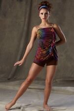 After The Storm Dance Costume Camisole Top & Tap Shorts Jazz Clearance Child 6x7