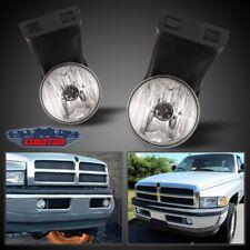 Fit Dodge RAM 94-02 Clear Lens Pair Bumper Fog Light Lamp OE Replacement DOT