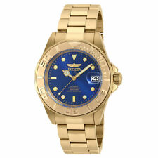 Invicta 90186 Men's Blue Dial Yellow Steel Automatic Dive Watch