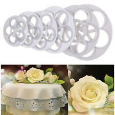 Christmas Decorating 4Pcs/Set Rose Flower Cake Cookie Cutters Diy Bakeware Tools