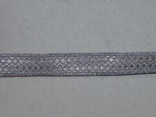 NVA Volkspolizei Kragenlitze Litzenband Tressenband silber, Breite 15 mm