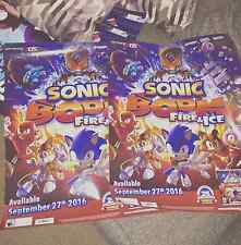 Sonic Boom Fire and Ice game promotional poster