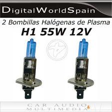 2 BOMBILLAS HALOGENAS DE PLASMA H1 55W 12V LUZ MUY BLANCA HOMOLOGADAS