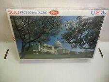 Vintage 1980s Jaymar U.S.A. USA Capitol Building 500 Piece Puzzle 031317DBT4