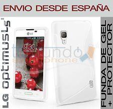 COQUE GEL BLANC + protection ECRAN pour LG OPTIMUS L5 II 2 E460 en Espagne