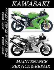 New listing 2003 2004 Kawasaki Zx6R Zx6Rr Ninja Service Manual Maintenance Repair Zx 600 636