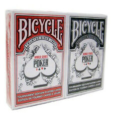 2 Deck RED BLACK Bicycle WSOP Plastic Coated Playing Cards World Series of Poker