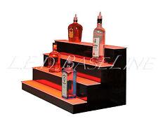 """16"""" LIGHTED BAR SHELF, Four Steps, Liquor display shelving, bar bottle shelves"""