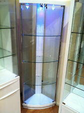 Free Assemble !! A616 High Gloss Polyurethane Display Cabinet Show Case Storage