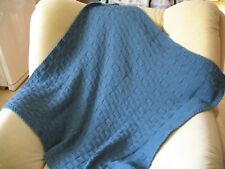 Knitted Baby  Blanket Plaid Cozy Warm  Soft Handmade