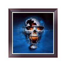 DIY 5D Diamond Embroidery Painting Skull Cross Stitch Craft Home Office Decor