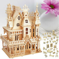 Woodcraft Construction Kit Dolls House Furniture 3D Model Puzzle Kids Xmax Gift