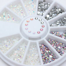 Acrylic 3D Nail Art Studs Flatback Rhinestones Jelly Resin Gems Decorations Tips