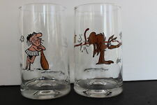 Set of 2 Bc Ice Age Collector Series Drinking Glasses Pegleg & The Anteater 1981