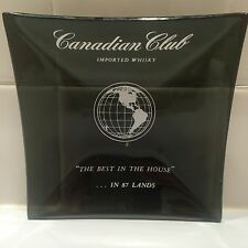 """CANADIAN CLUB IMPORTED WHISKEY """"THE BEST IN THE HOUSE"""" Collectors Square Ashtray"""