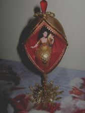 Hand Decorated Goose Egg Ornament Decoration