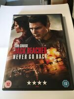 Jack Reacher Never Go Back DVD Tom Cruise FREEPOST VGC