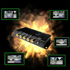 Car 4-Way Video Switch Parking Camera 4 View Image Split-Screen Control Perfect