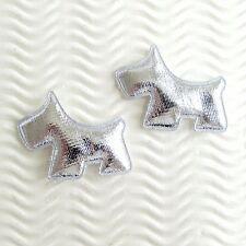 "US SELLER- 60 pcs x 1.5"" Padded Shiny Felt Scottie Terrier Appliques/DOG ST648"