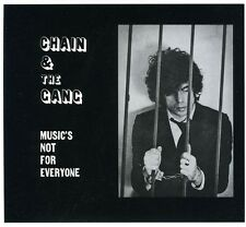 Chain & the Gang - Music's Not for Everyone [New CD]