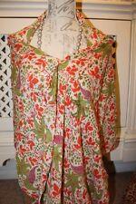 Orange birds shawl wrap -  Ditsy Vintage Festival - 100% indian cotton