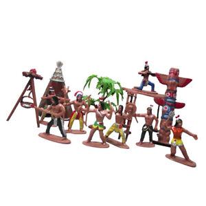 Set of 8pcs Indian Tribes Wild Western Region Scene Model Home Desk Decor