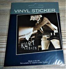 "NIRVANA AUFKLEBER / STICKER KURT COBAIN LIVE"" - PVC 8 cm x 8 cm"