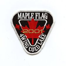 RCAF CAF Canadian 4 Wing Cold Lake 2001 Maple Flag Colour Crest Patch
