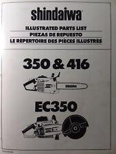 Shindaiwa 350 416 Gasoline Chain Sawamp Ec350 Circular Cutter Parts Catalog Manual